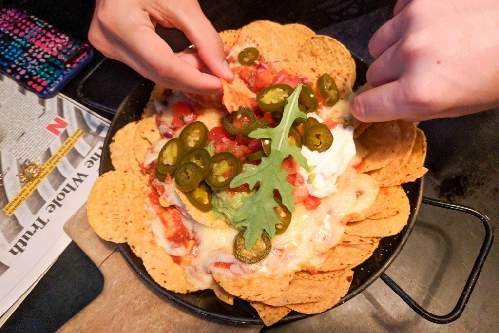Veggie nachos at the Courthouse Hotel, Newtown, Sydney