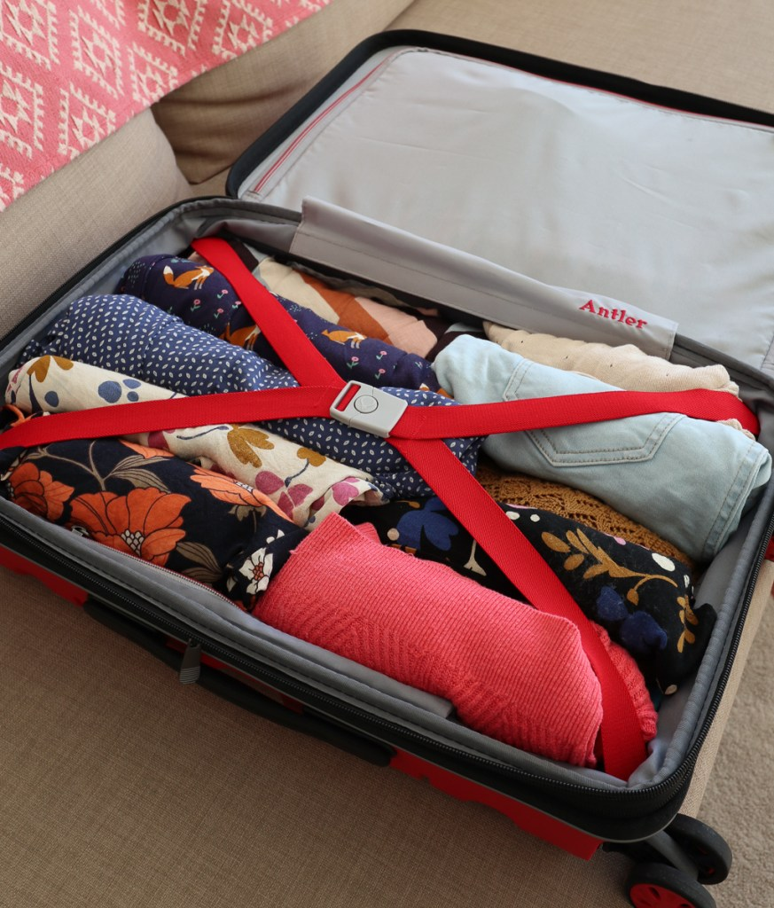 Luggage full of clothes