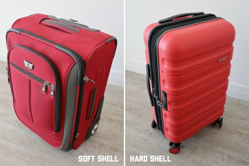 Soft shell vs hard shell suitcase comparison