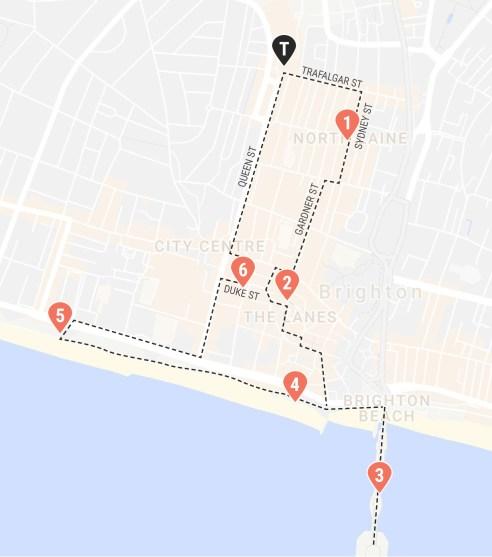 A self-guided walking tour around Brighton, UK