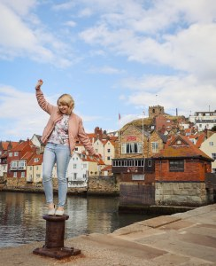 The waterfront in Whitby, England, UK