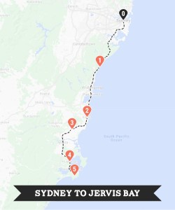 Sydney to Jervis Bay road trip itinerary