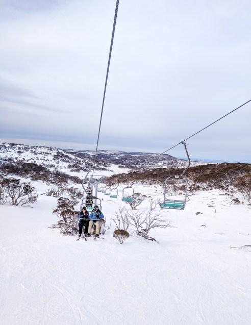 Perisher ski lift, NSW, Australia