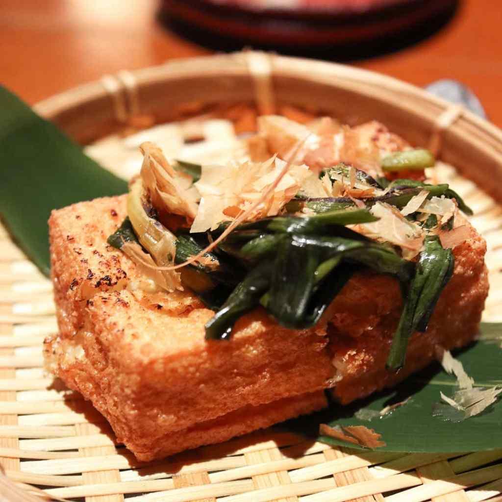 Deep fried tofu at Sorano, Tokyo, Japan