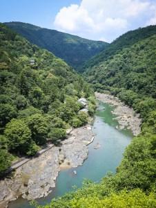 Mountain views from Kameyama Park, Arashiyama, Kyoto, Japan