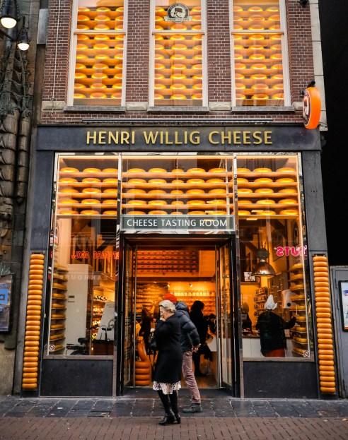Henri Willig cheese store in Amsterdam