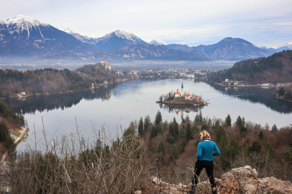 Views of Lake Bled from Ojstrica lookout