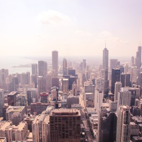 Views of Chicago from Hancock Tower, Illinois