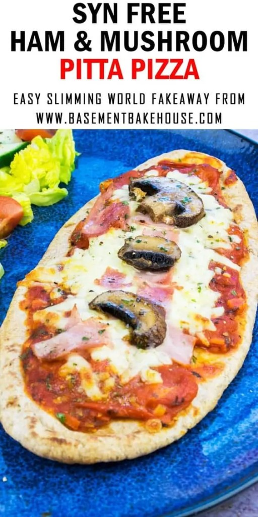 Slimming World Ham & Mushroom Pitta Pizza