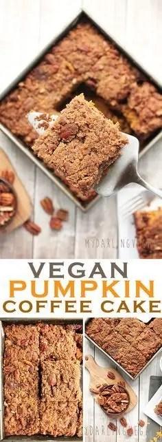 Delicious vegan pumpkin coffee cake.