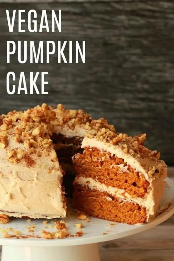 Delicious vegan pumpkin cake.