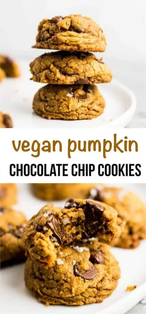 Pumpkin melted chocolate chip cookies.