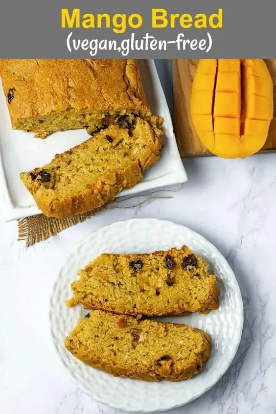 Mango vegan loaf bread.