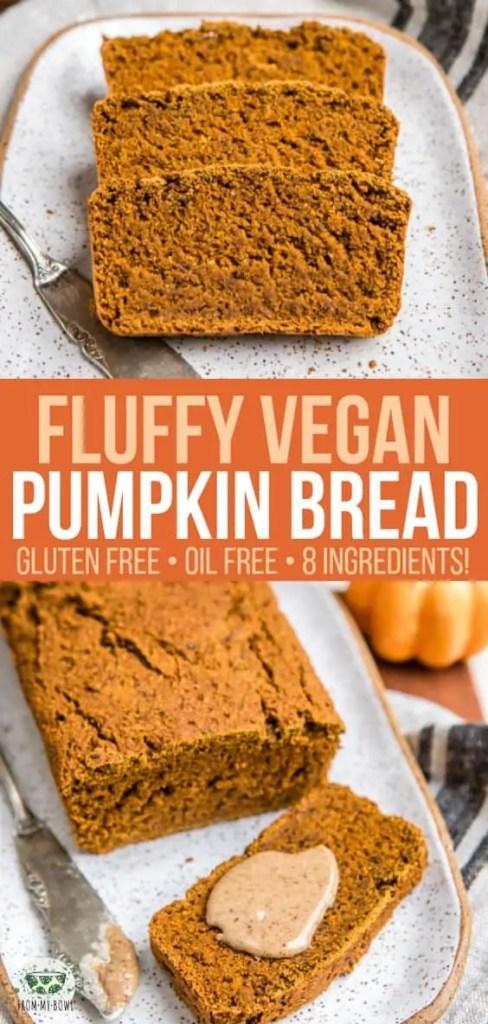 Delicious vegan pumpkin bread.