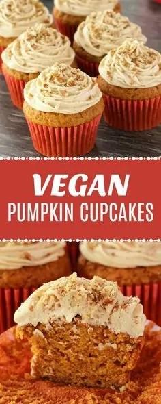 Delicious vegan pumpkin cupcakes.