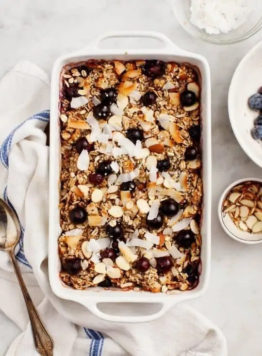 Brunch Baked Oatmeal with Blueberries