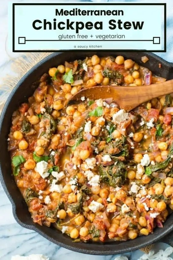 Mediterranean Chickpea with Spinach & Feta