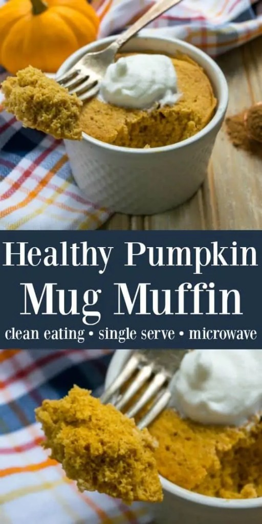 Healthy pumpkin mug muffin