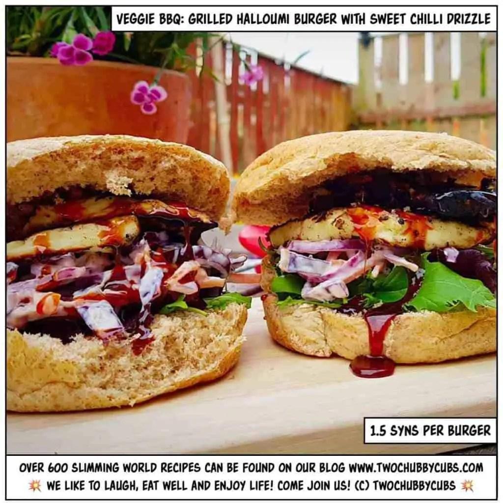 Slimming World halloumi burgers