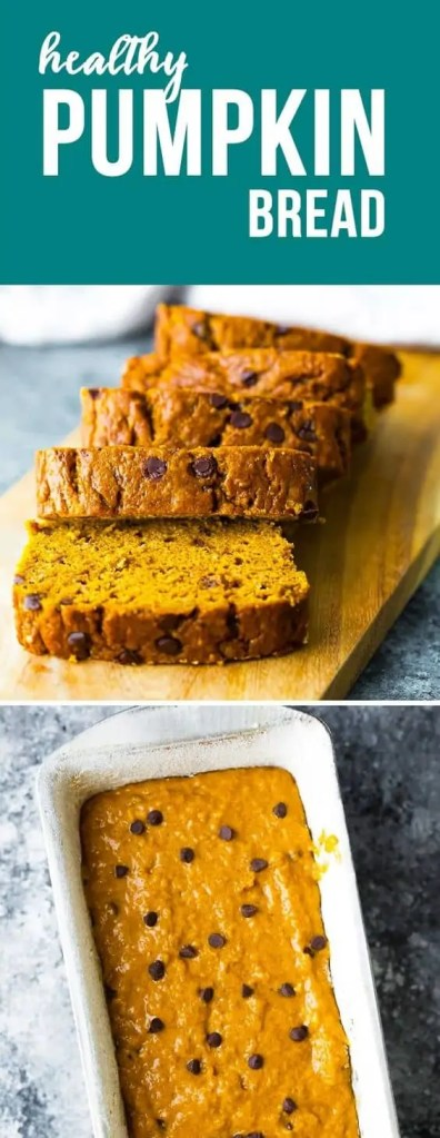 Healthy pumpkin bread snack