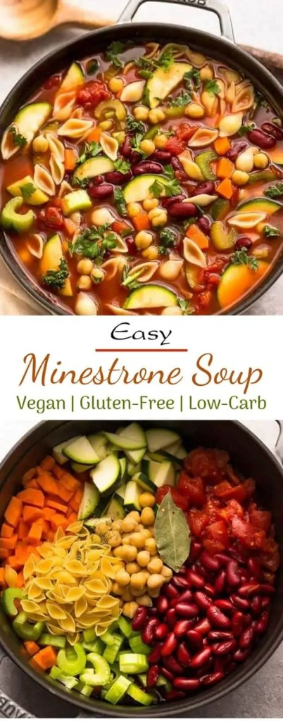 Vegetarian Minestrone Soup