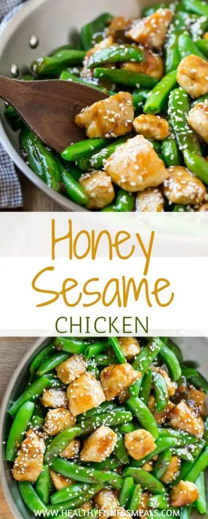 Honey sesame chicken healthy dinner