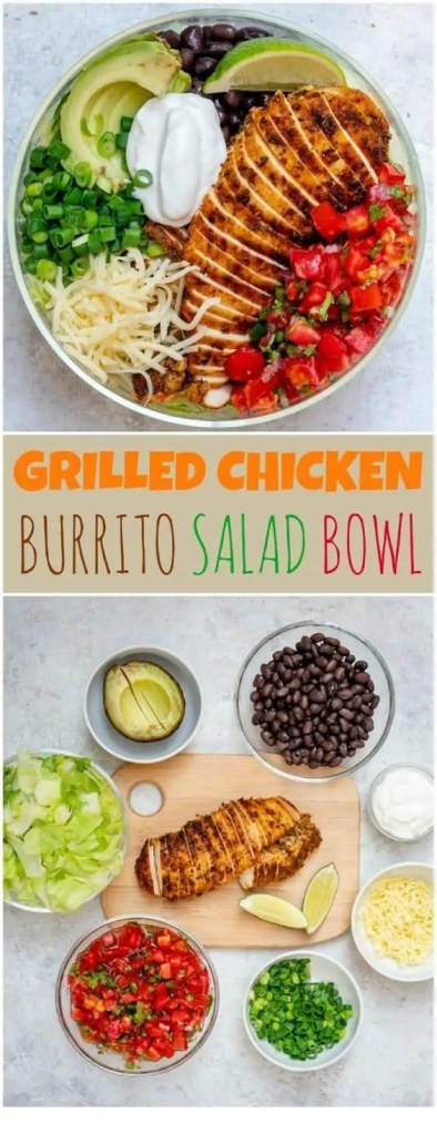 Healthy grilled chicken meal prep bowl dinner