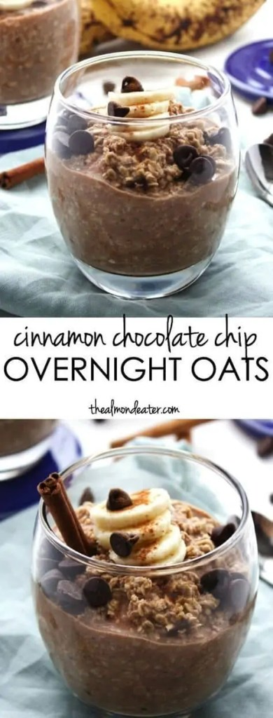 Cinnamon Chocolate Chip Overnight Oats