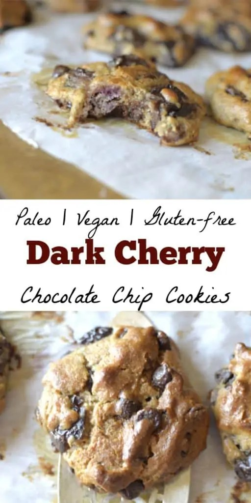 Soft-Baked Dark Cherry Chocolate Chip Cookies