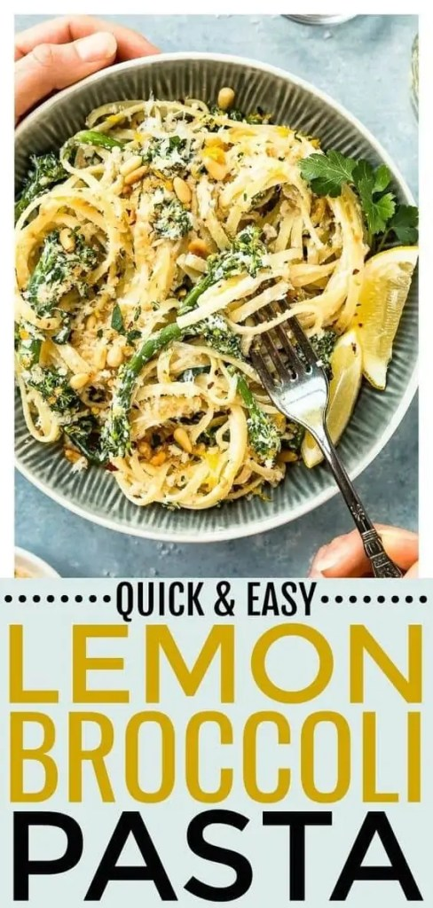 Creamy Lemon Broccoli Pasta Recipe