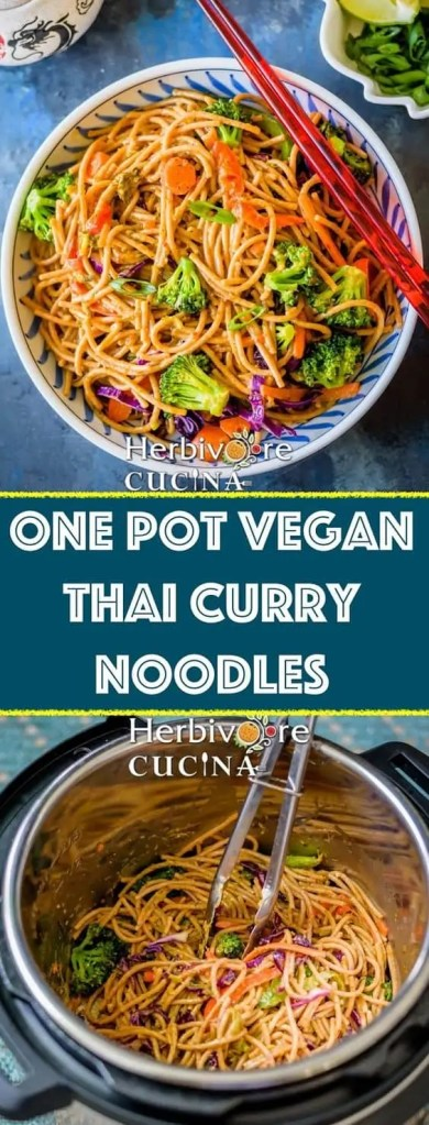 One Pot Vegan Thai Curry Noodles