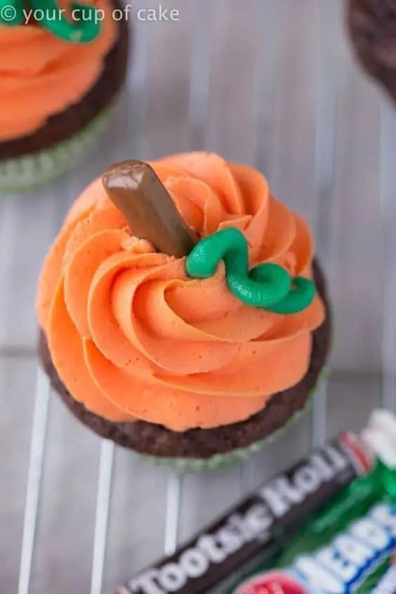 Pumpkin Swirl Cupcakes