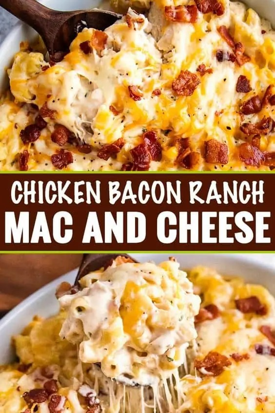 Chicken Bacon Ranch Mac and Cheese Casserole