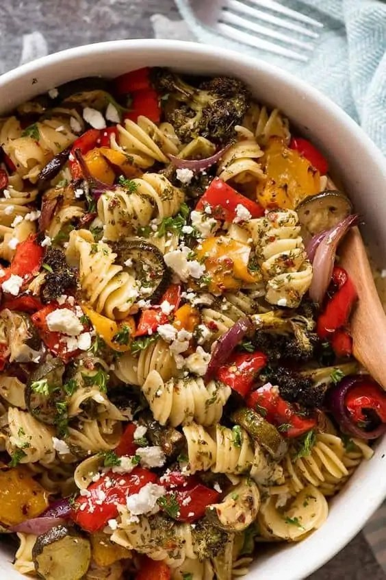 Marinated Vegetarian Pasta Salad