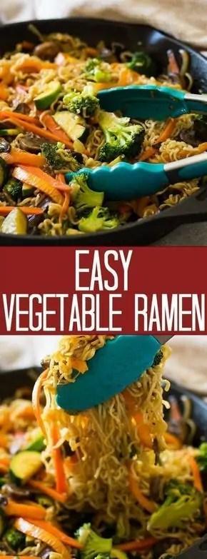 Easy Vegetable Ramen
