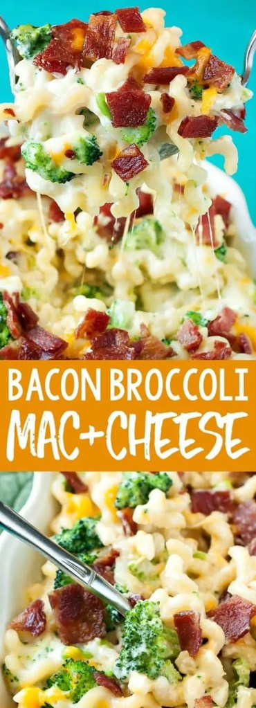 Bacon Broccoli Mac and Cheese