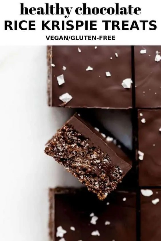 Healthy Chocolate Rice Krispie Treats