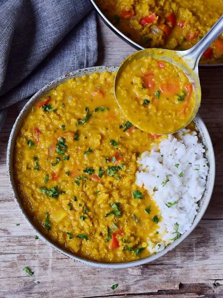 Easy Red Lentil Dahl | Masoor Dal Recipe