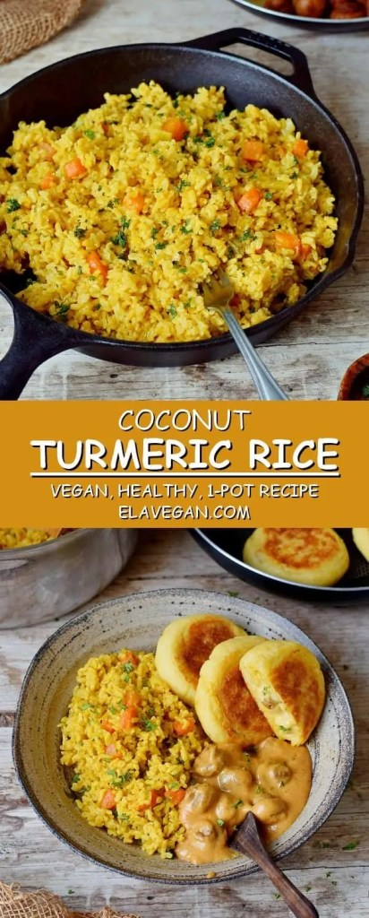 Turmeric Rice With Coconut