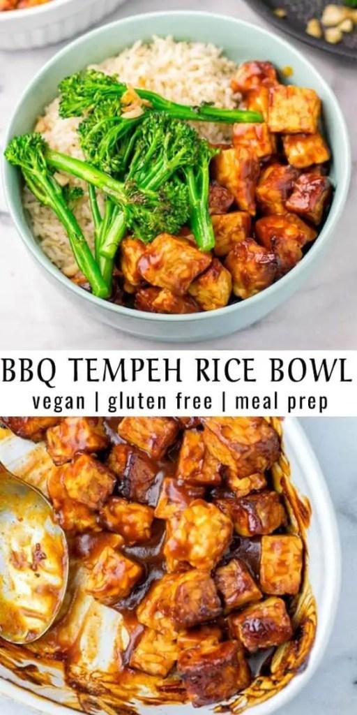 BBQ Tempeh Rice Bowl Recipe