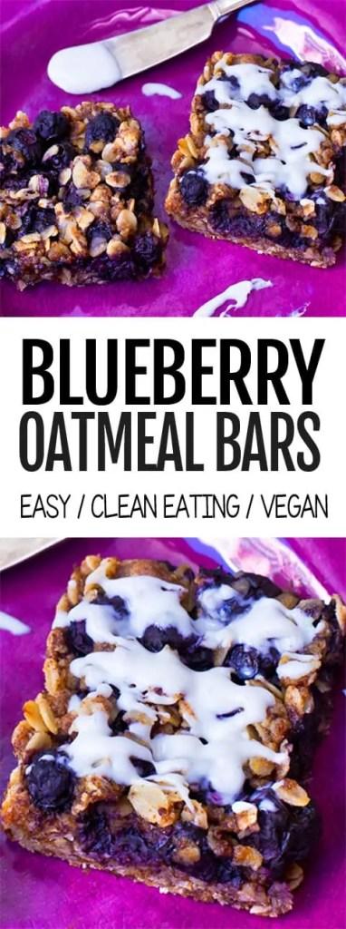 Homemade Blueberry Oatmeal Bars