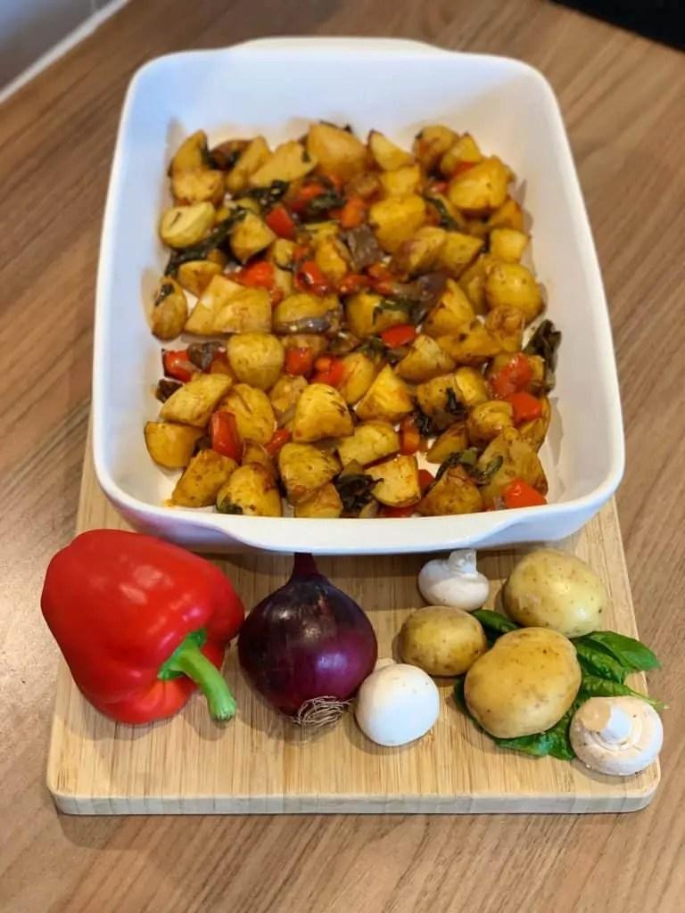 Syn Free Vegetarian Breakfast Potatoes