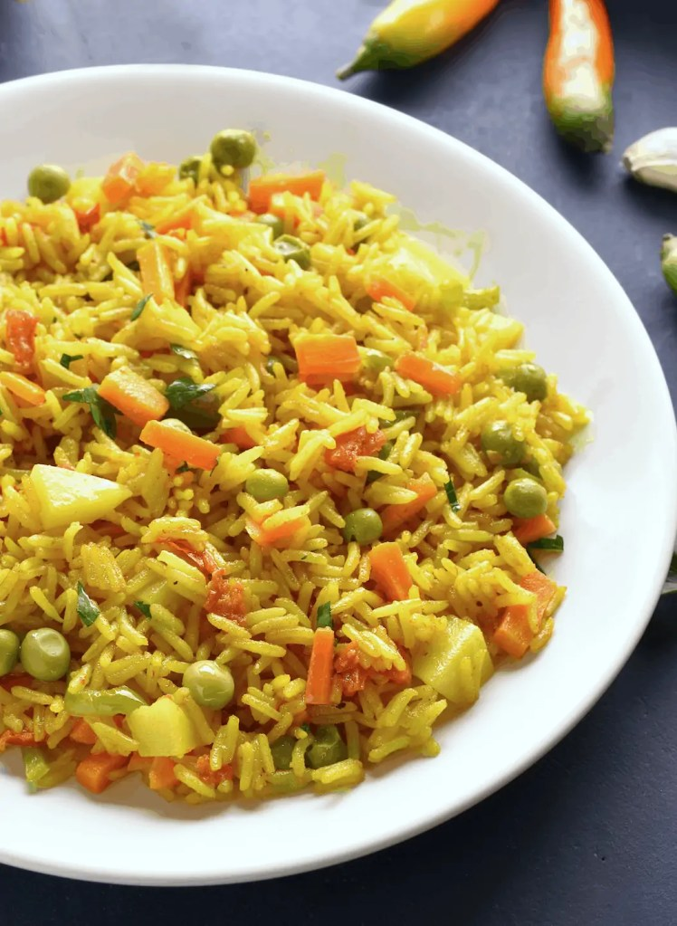 Spicy Vegetable Pilau Rice