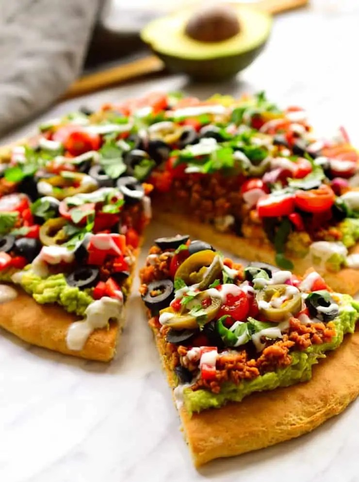 Vegan Nacho Pizza