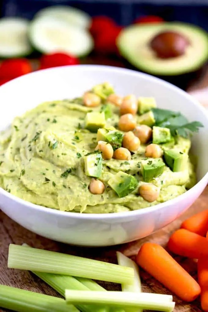 Creamy Avocado Hummus