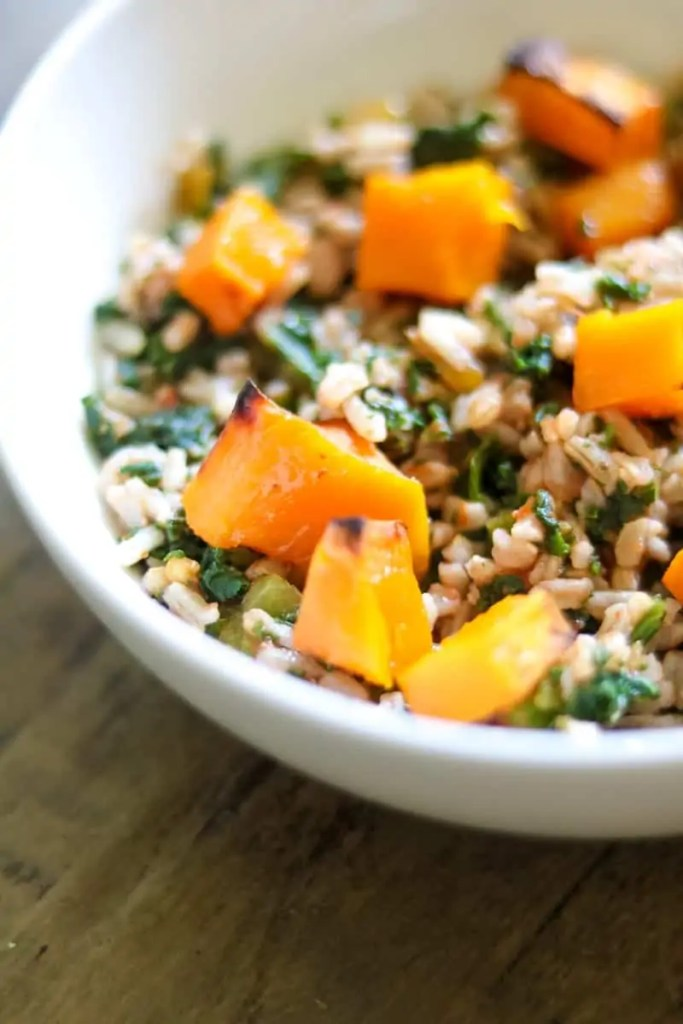 Vegan Butternut Squash Rice Bowl