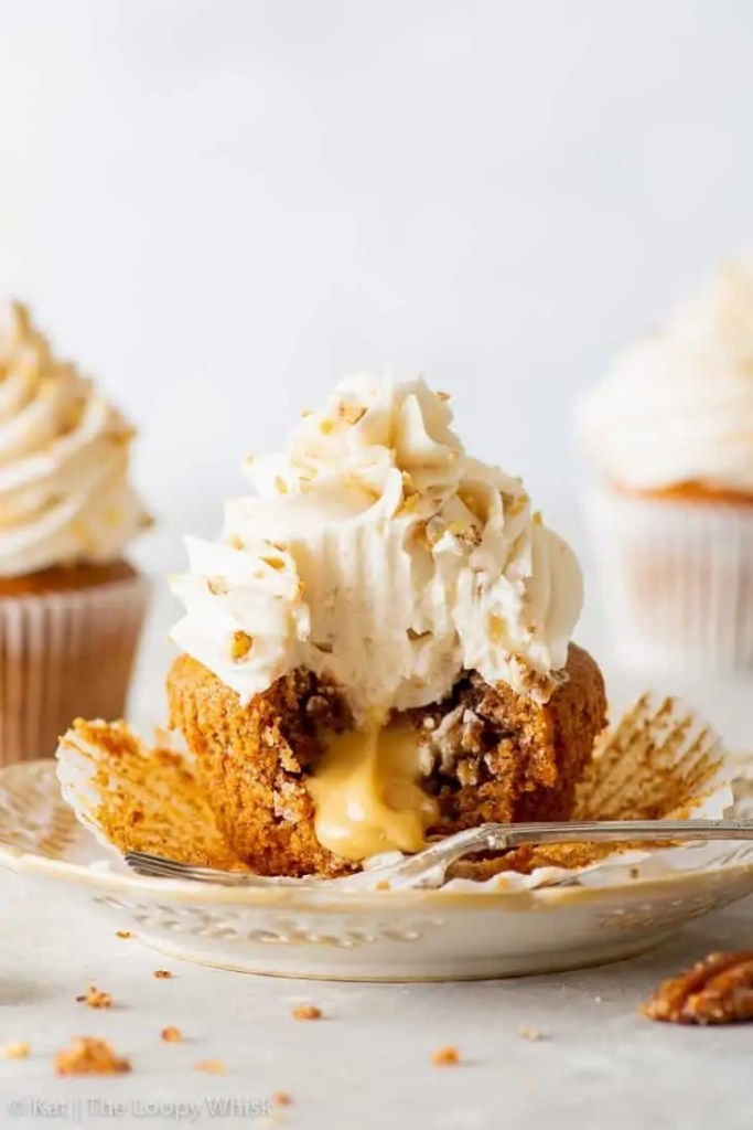Vegan Maple & Pecan Cupcakes