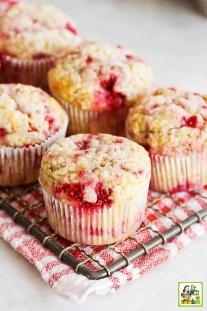 Healthy Raspberry Yogurt Muffins