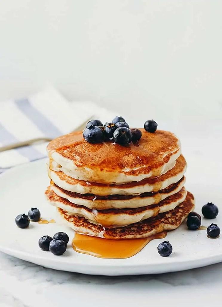 Fluffy Vegan Buttermilk  Pancakes