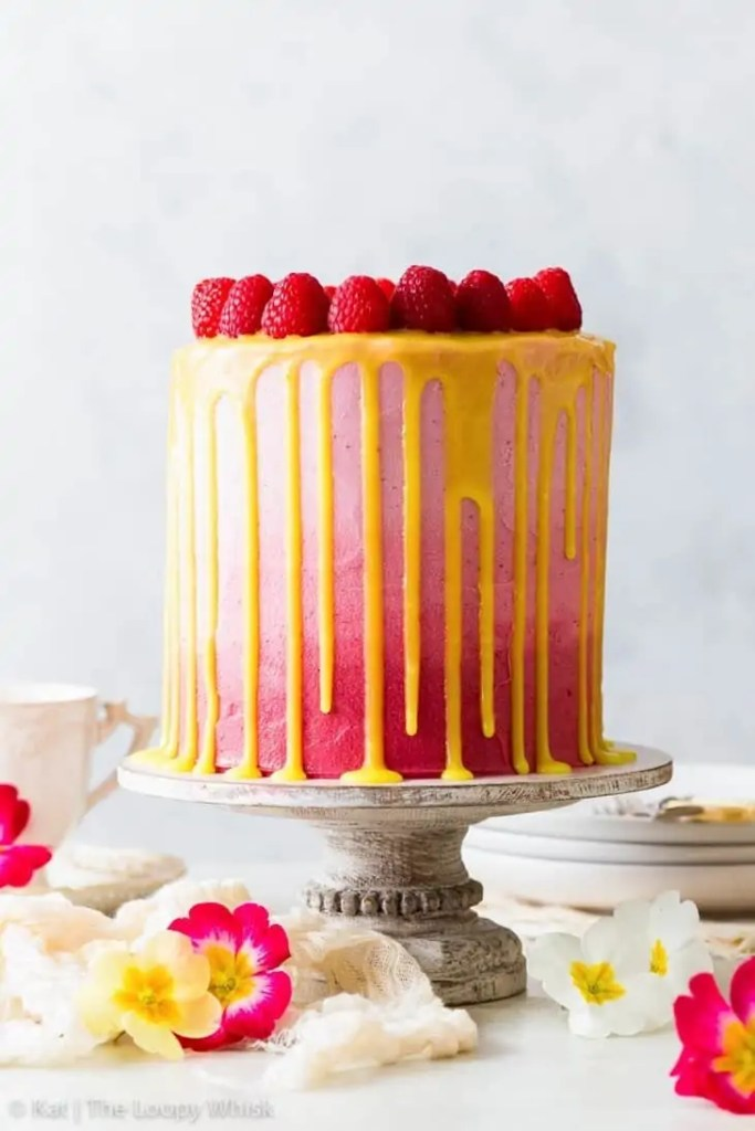 Vegan Raspberry & Lemon Cake